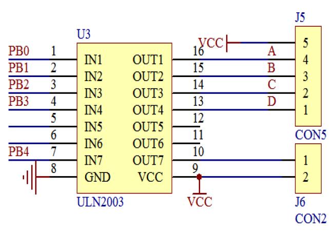 ULN2003 схема включения