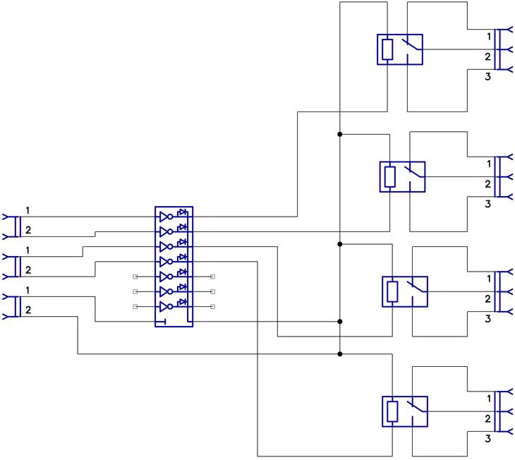 Схема релейного блока